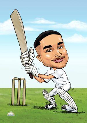 Cricket cartoon drawing from photo
