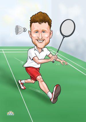 Badminton caricatures
