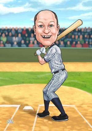 New York Yankees cartoon portraits