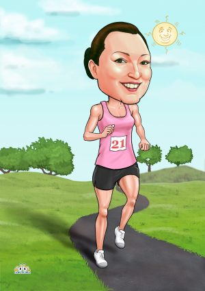 running girl poster caricatures