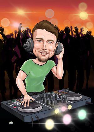Caricature for a dj boyfriend