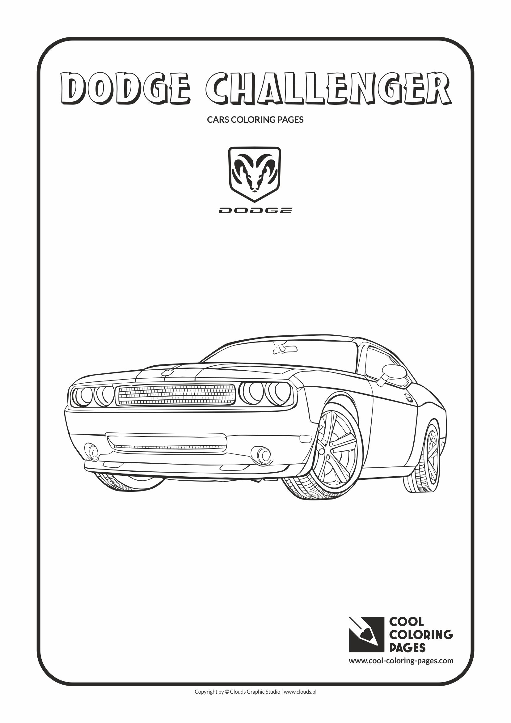 Dodge Challenger Coloring Page Cool Coloring Pages