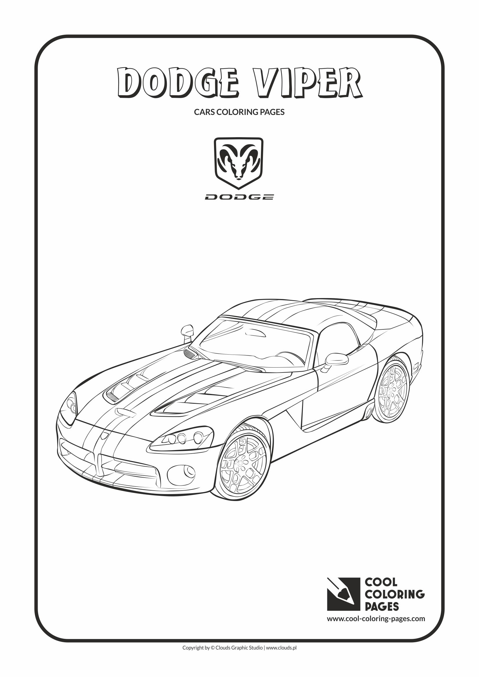 Dodge Viper Coloring Page Cool Coloring Pages