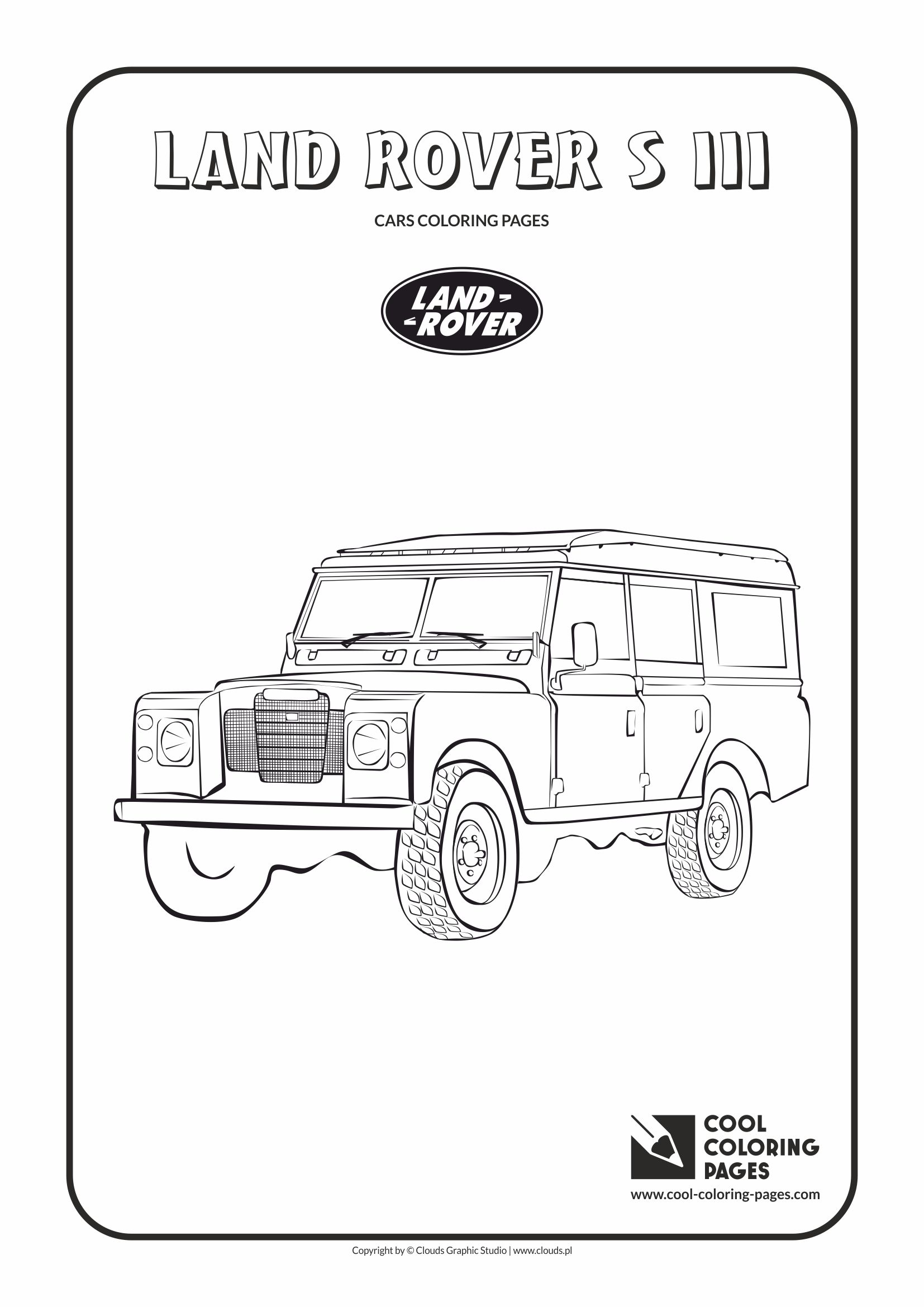 Cool Coloring Pages Land Rover S Iii Coloring Page