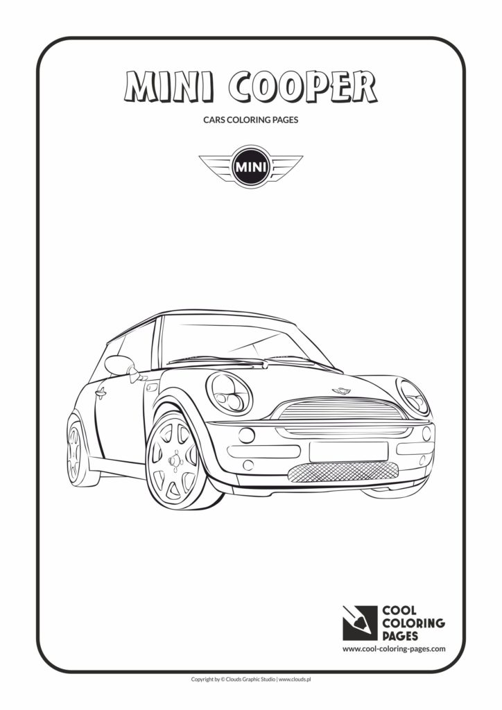 cool coloring pages mini cooper coloring page  cool