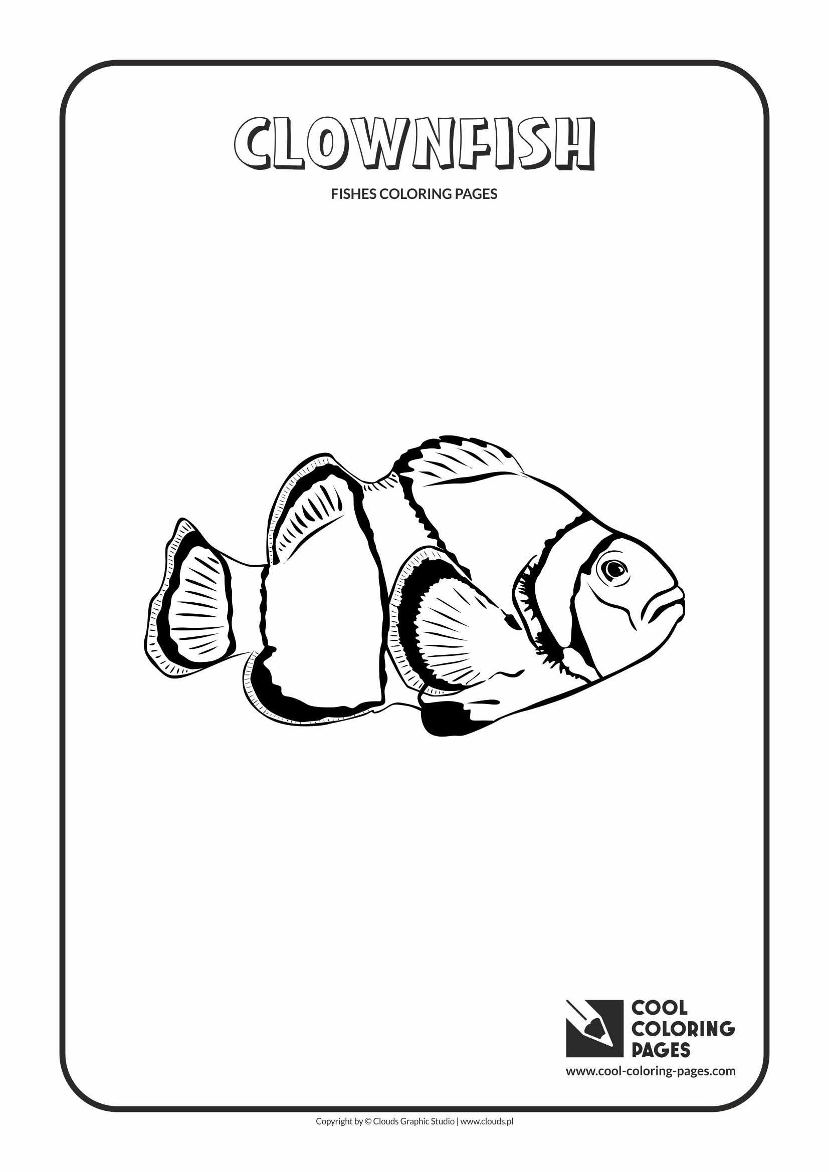 clownfish coloring page cool coloring pages