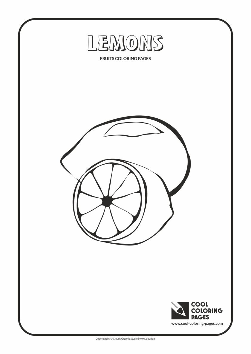 cool coloring pages lemons coloring page  cool coloring