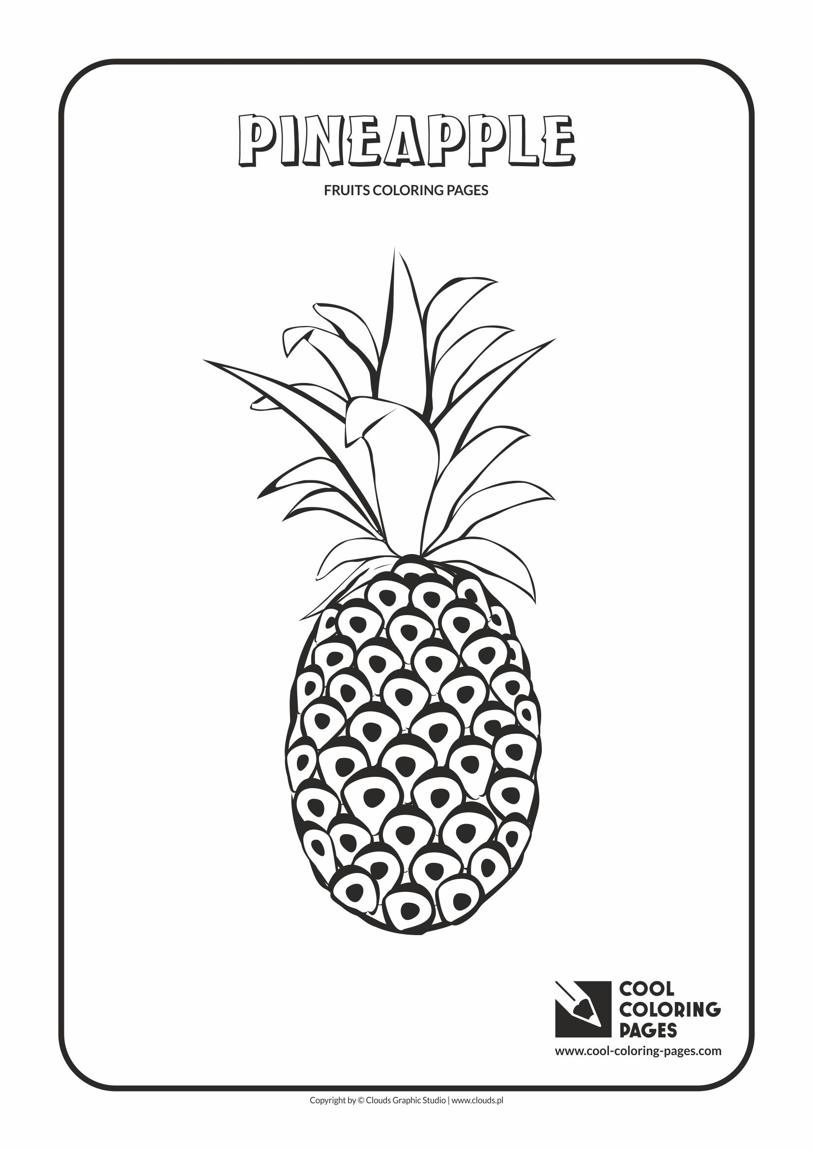 Cool Coloring Pages Pineapple Coloring Page