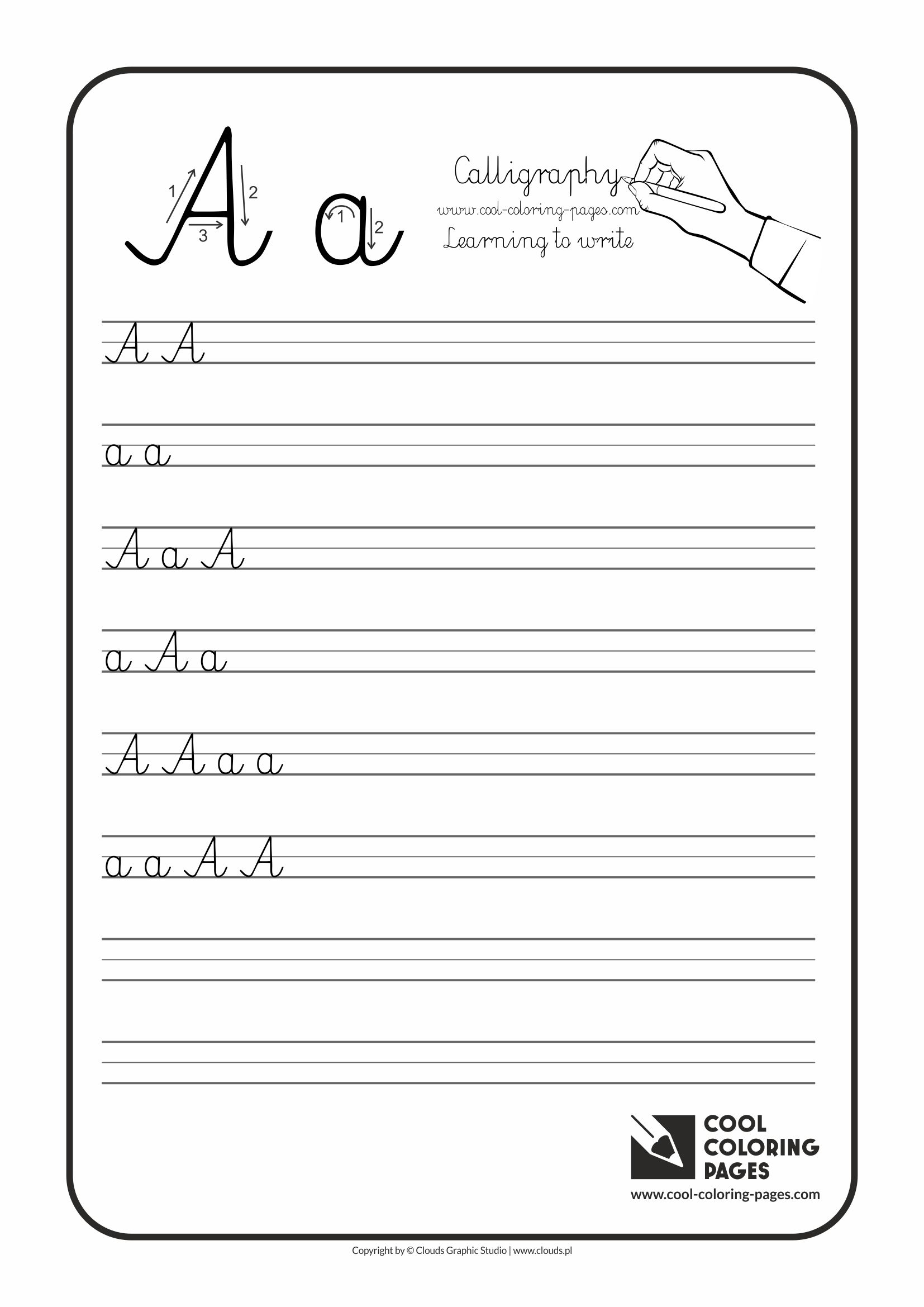 Cool Coloring Pages Letter A