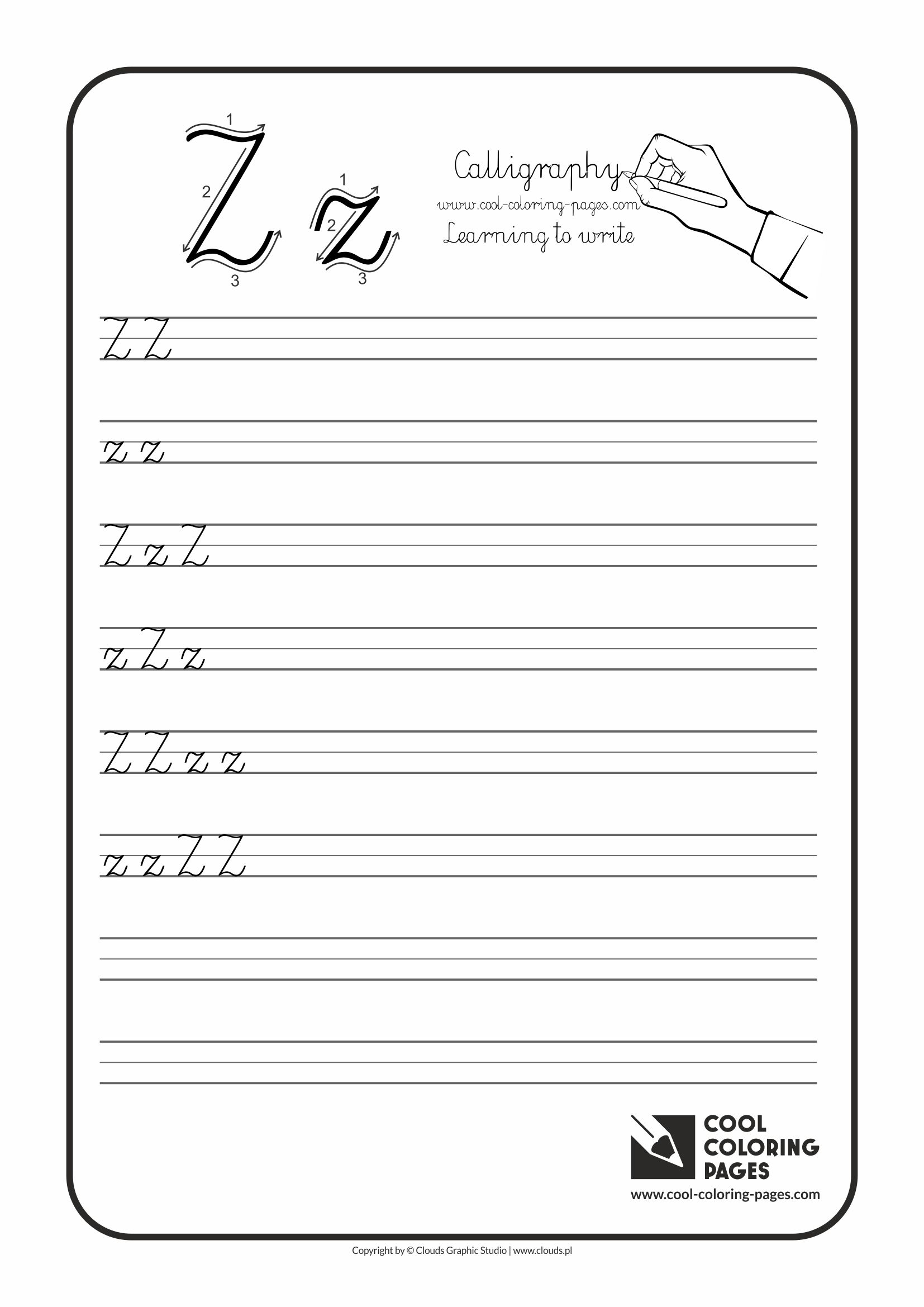 Cool Coloring Pages Calligraphy For Kids