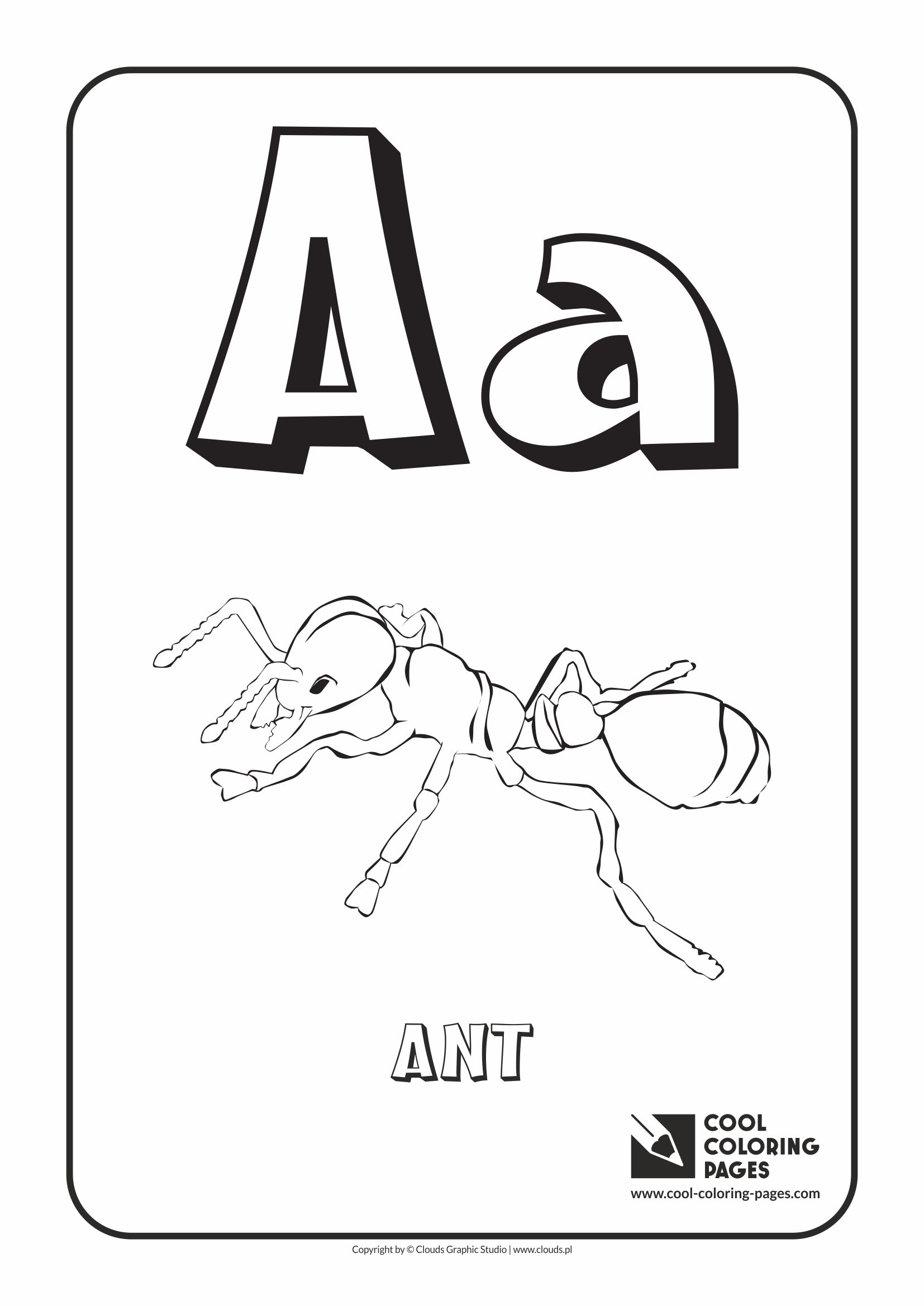 letter a coloring alphabet cool coloring pages