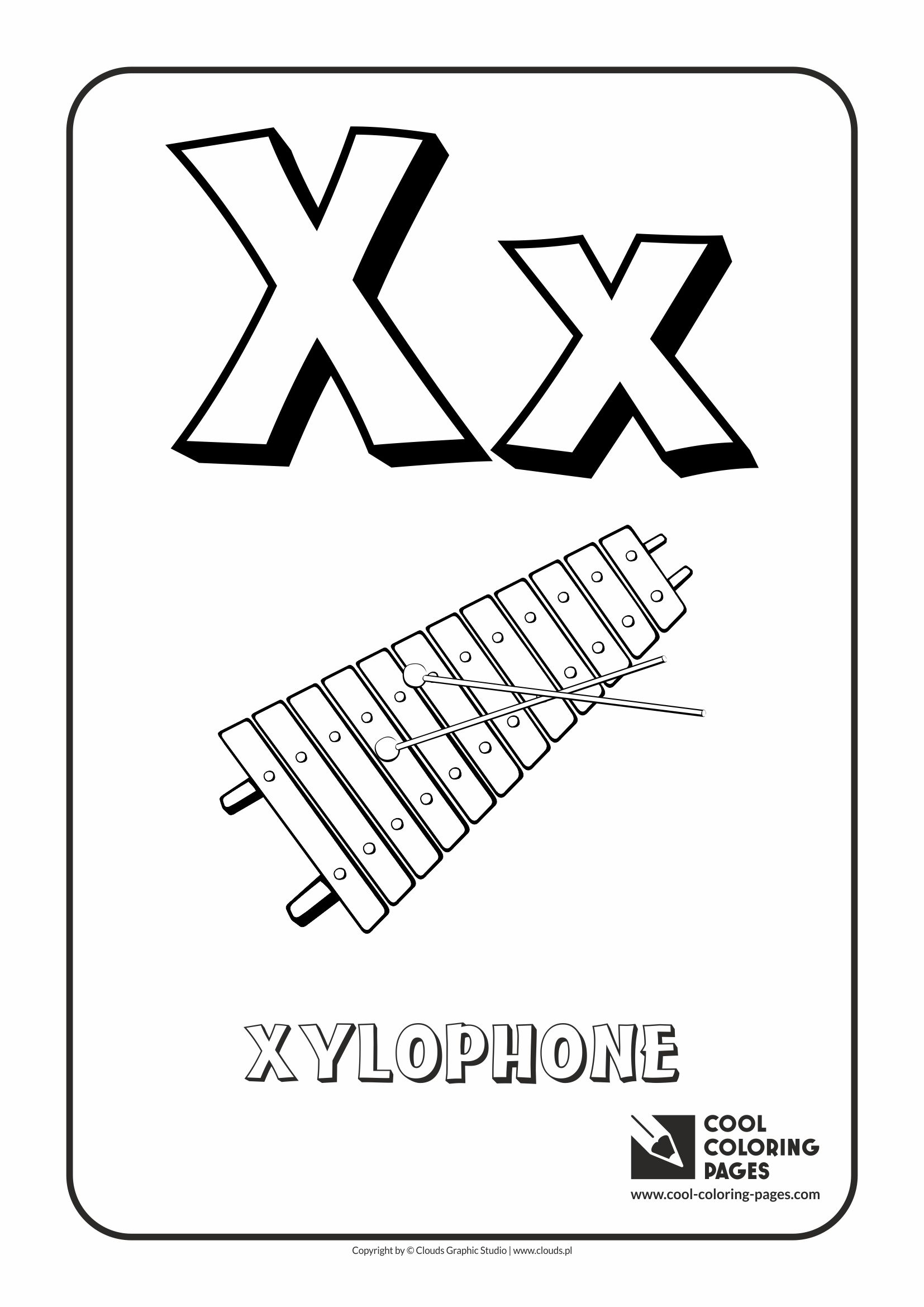 Letter X Coloring Pages Coloring Page