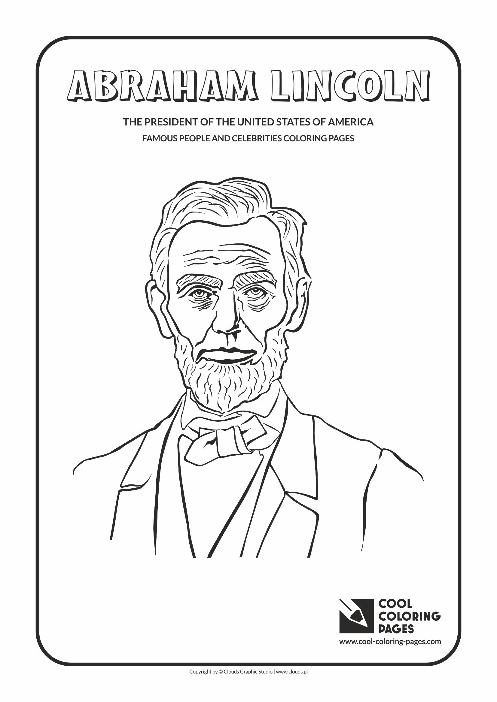 Cool Coloring Pages Abraham Lincoln Coloring Page