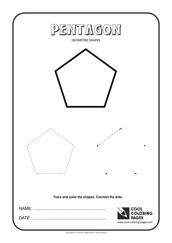 Geometric Shapes Cool Coloring Pages