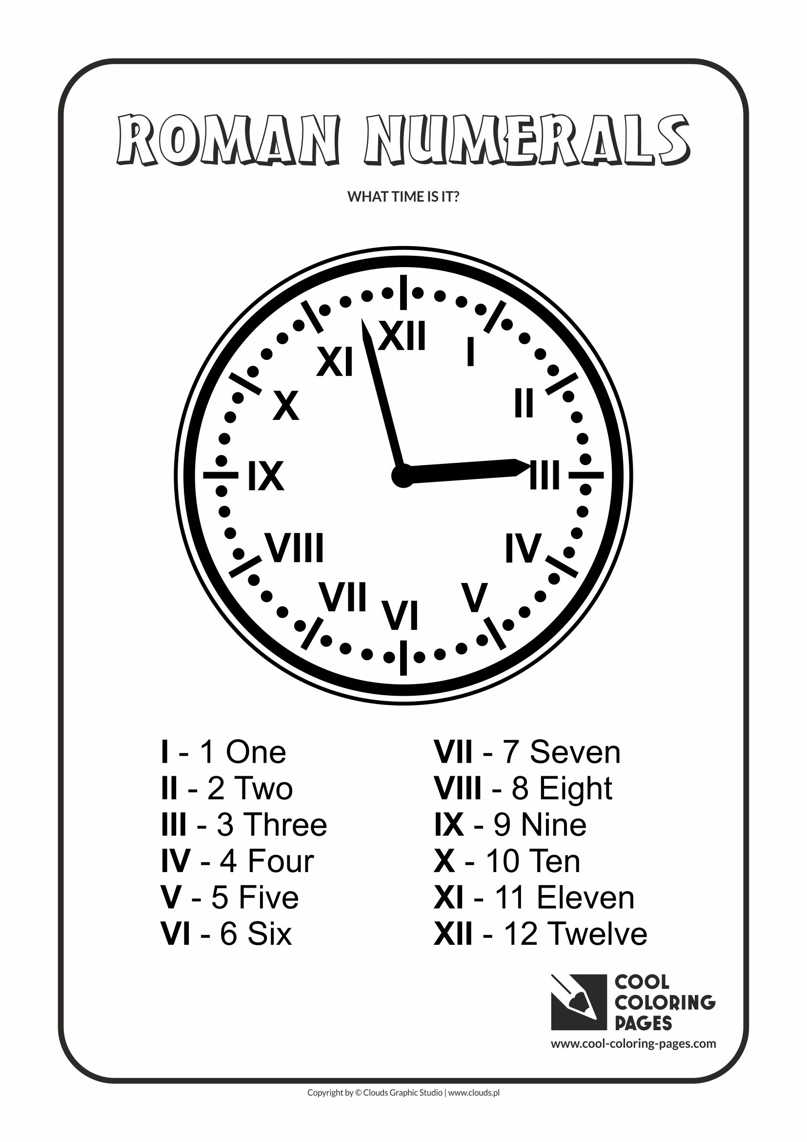 Cool Coloring Pages Roman Numerals