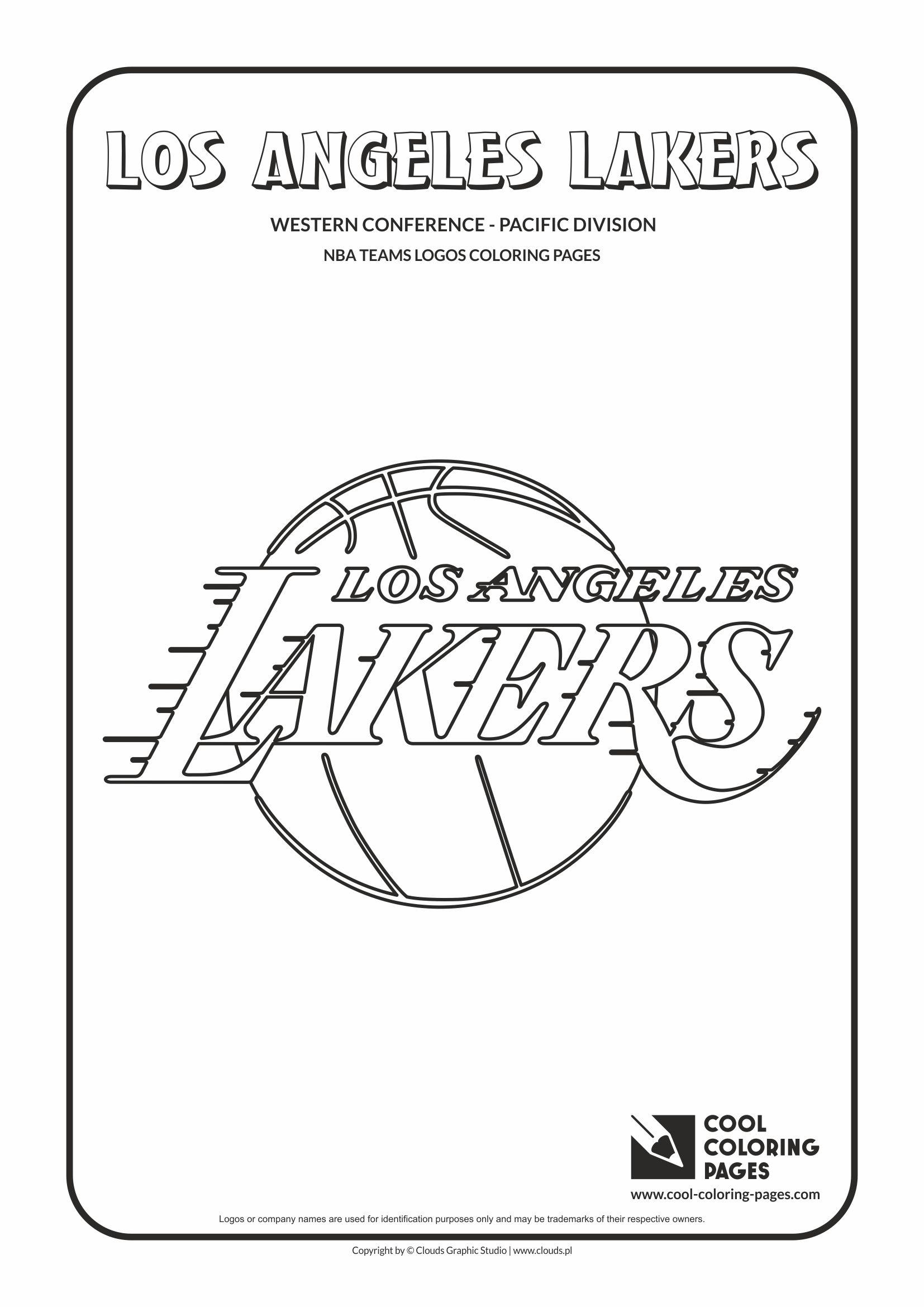 Gambar Los Angeles Lakers Nba Coloring Pages Basketball Di Rebanas