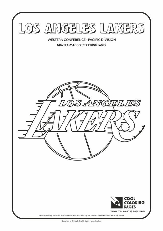 Cool Coloring Pages Los Angeles Lakers - NBA basketball teams