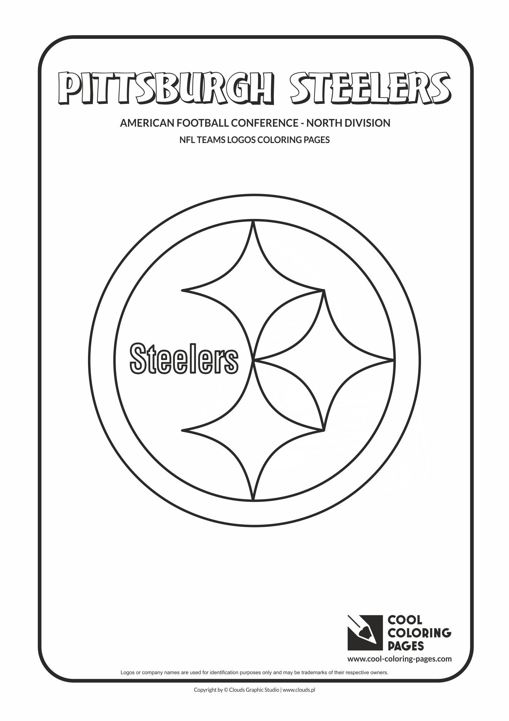 pittsburgh steelers nfl american football teams logos coloring