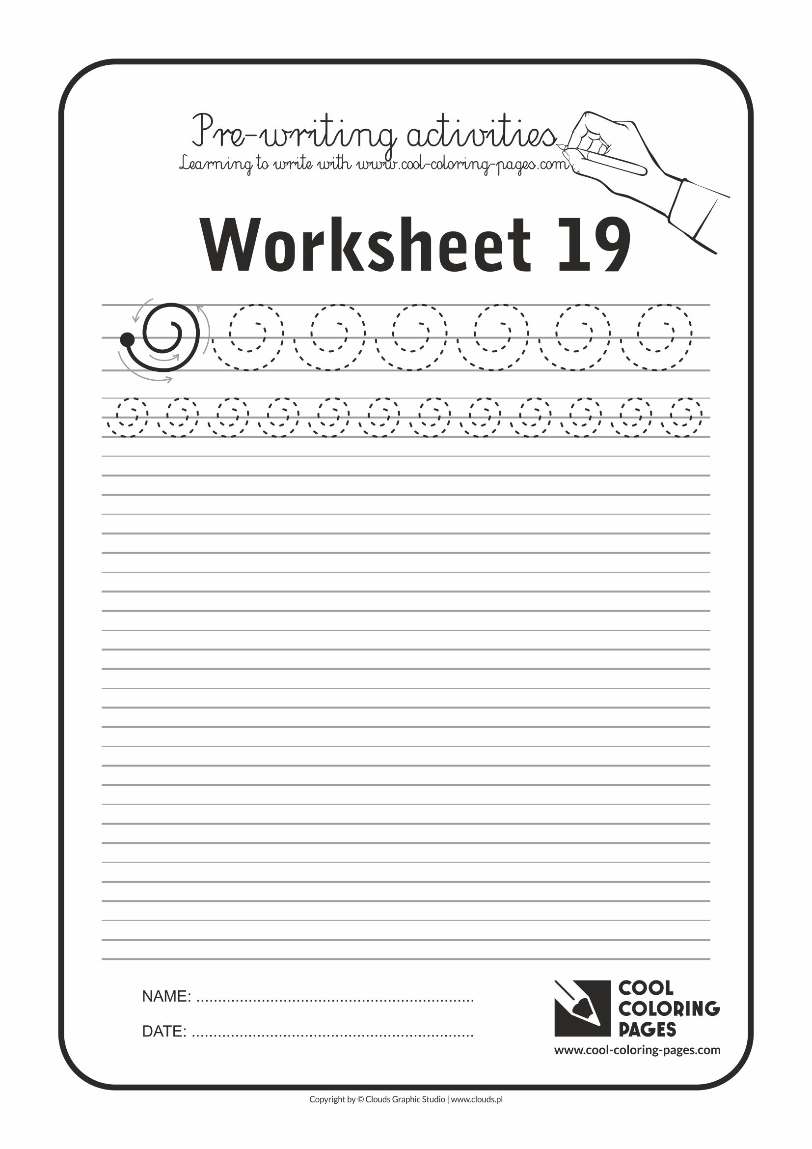 Pre Writing Activity Pages