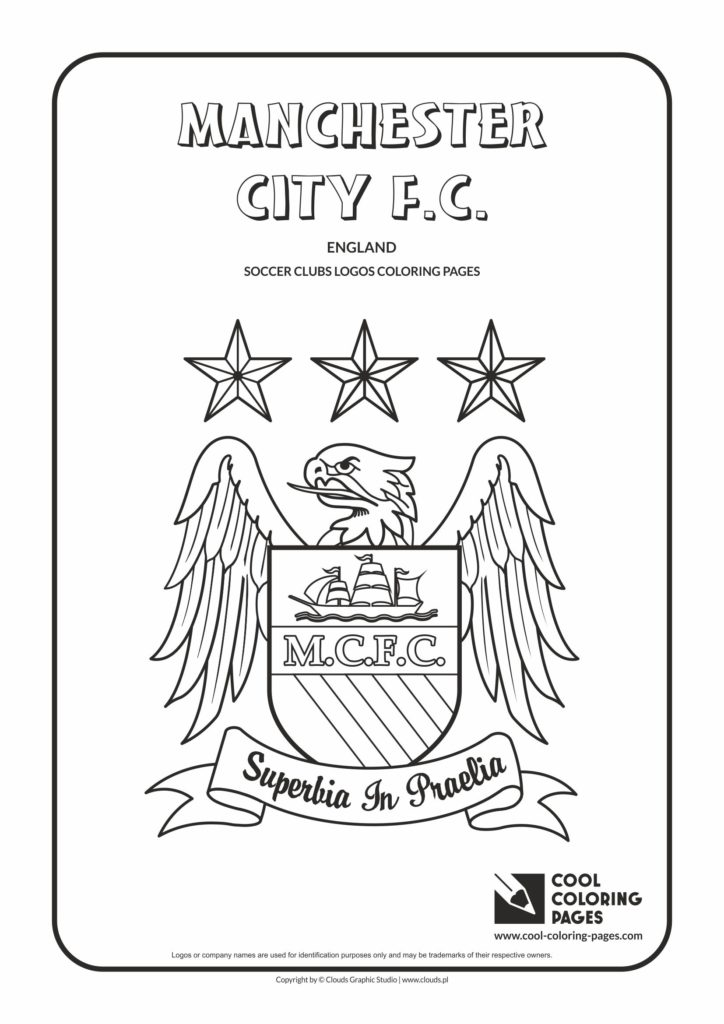 Cool Coloring Pages Manchester City FC Logo Coloring