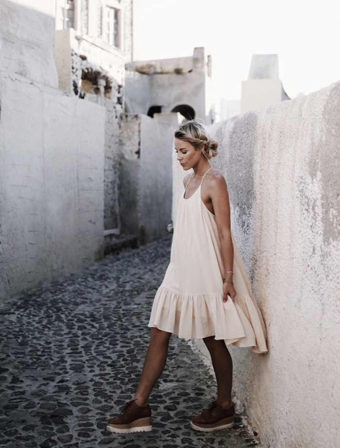 Mary Seng of Happilygrey.com wore this dress on one of her trips to beautiful Santorini