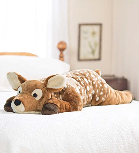 Fuzzy Spotted Fawn Body Pillow makes a super cool gift idea for Christmas, birthday for sister brother and teen daughter