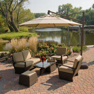 treasure garden 11 octagon cantilever umbrella