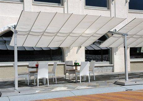 fim flexy aluminum 10 x 16 rectangular offset patio umbrella