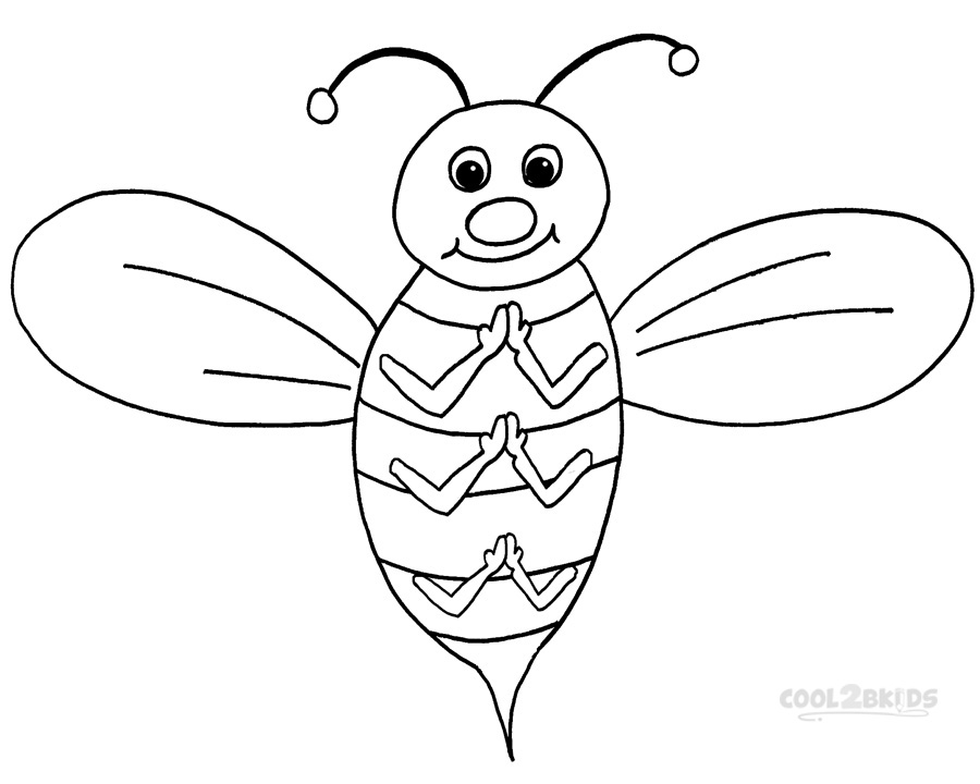 bumble bee coloring page funny bees coloring page bee to color in bee