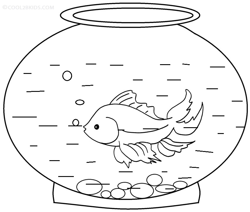pics photos is for fish in fish bowl coloring page jpg