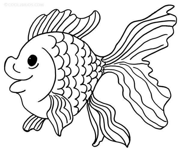goldfish coloring page # 3