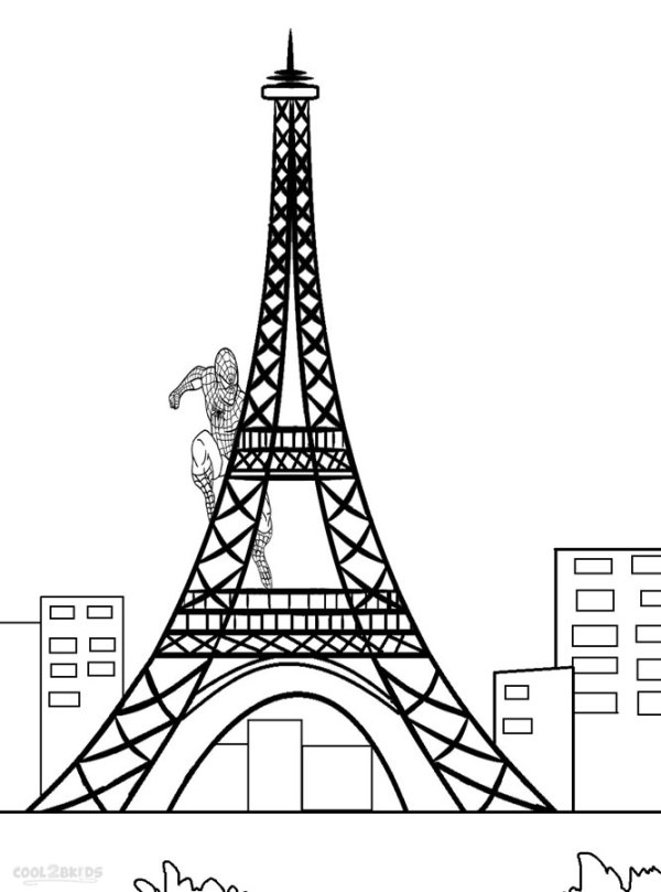 eiffel tower coloring pages # 7