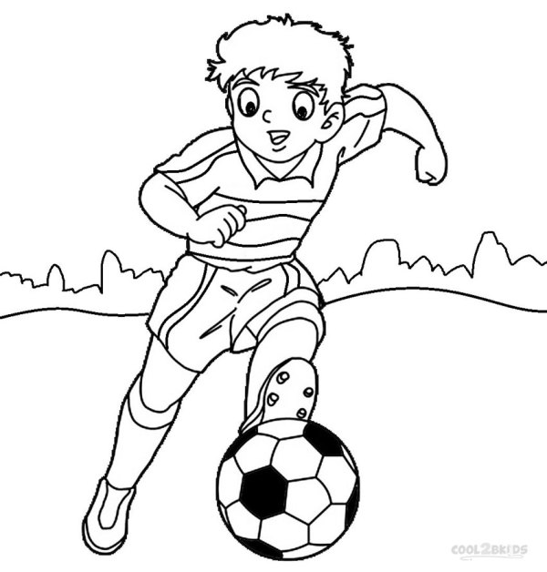 football player coloring page # 15