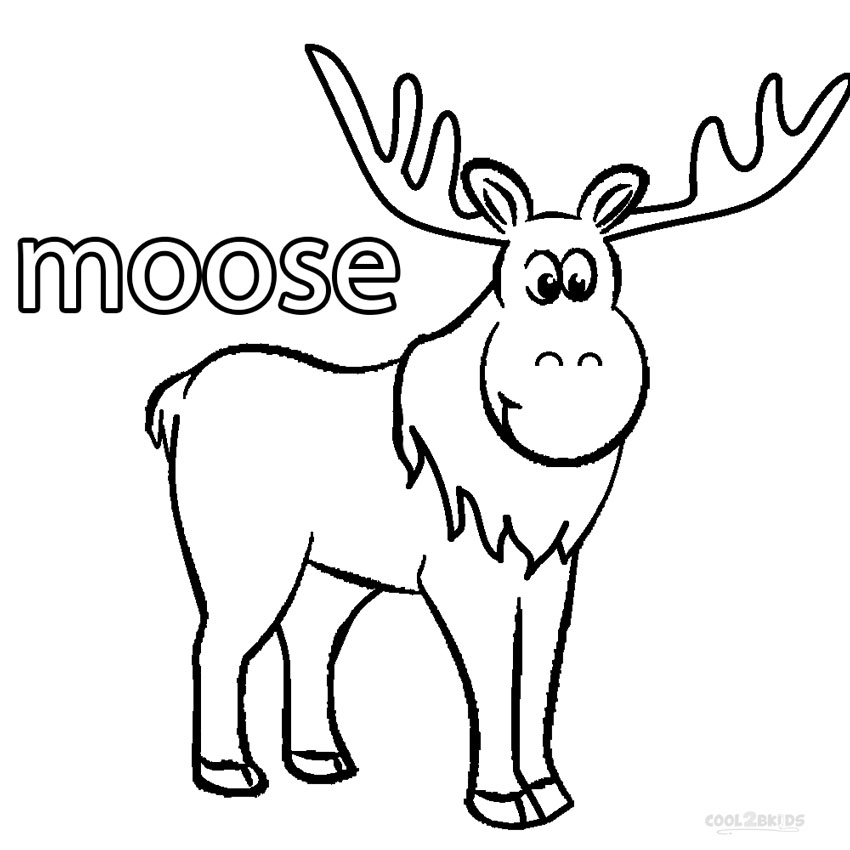 printable moose for kids cool2bkids