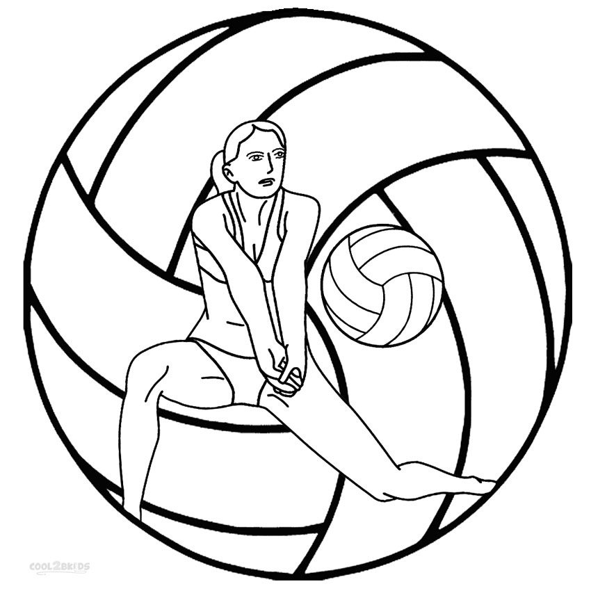 printable volleyball for kids cool2bkids