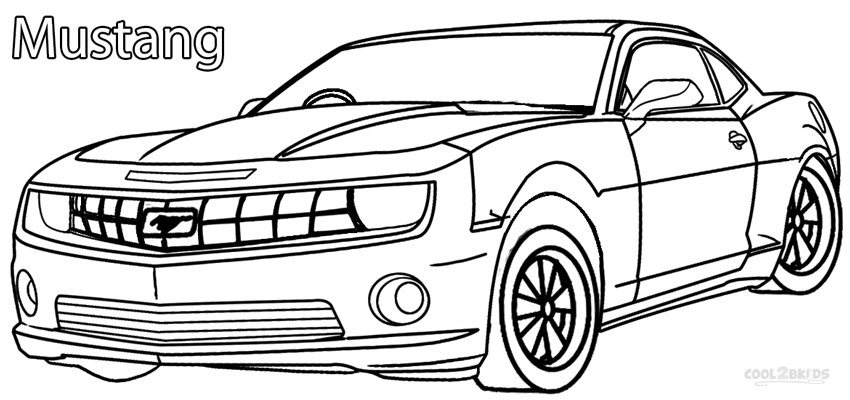 mustang coloring pages printable
