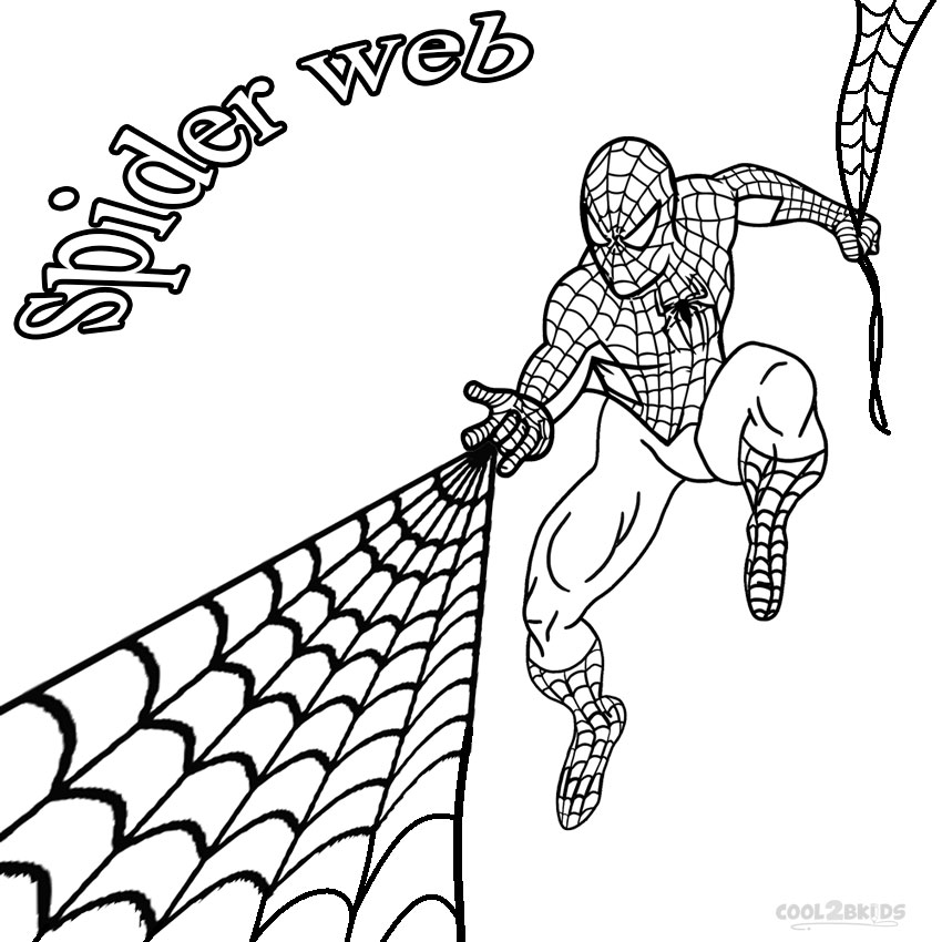 spiderweb colouring pages page 2