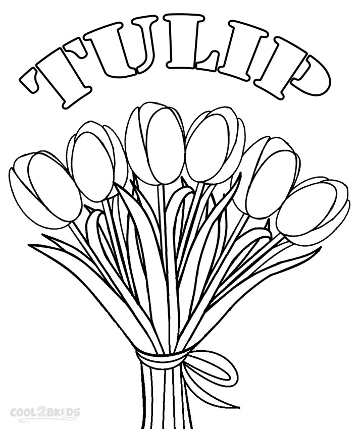 Printable Tulip Coloring Pages For Kids | Cool2bKids | colouring pages tulip flowers
