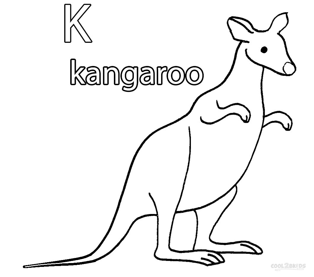 Kangaroo Coloring Worksheet Preschool