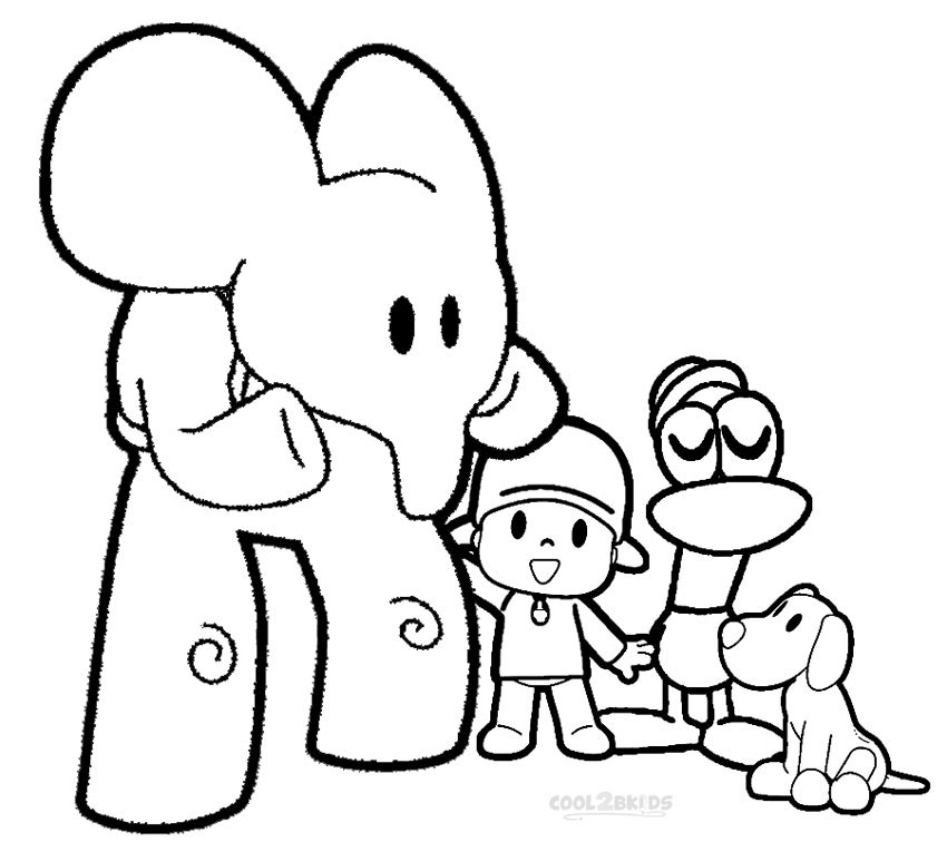 Pocoyo And Friends Coloring Pages. printable pocoyo coloring pages ...