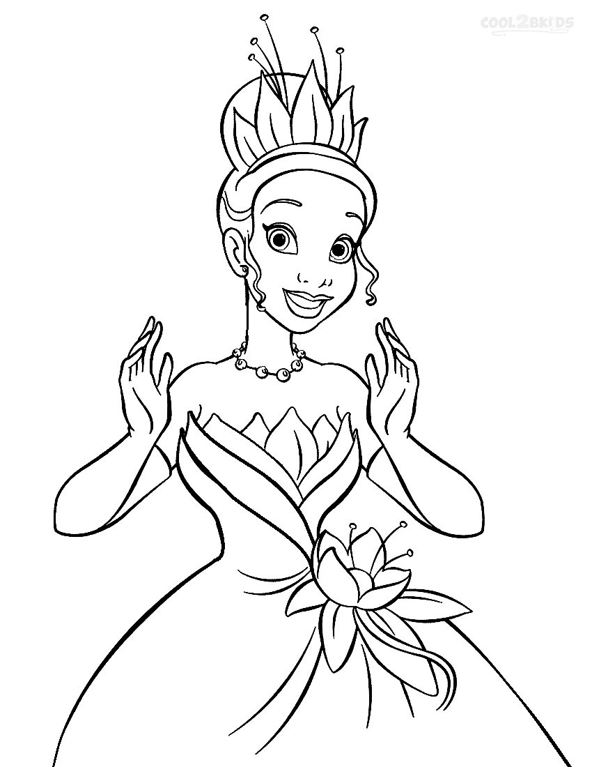 Princess And The Frog Coloring Page Free Coloring Pages Download ...