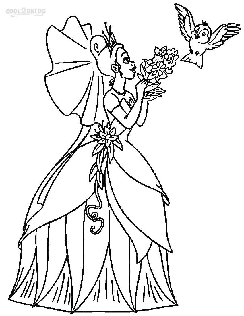 Printable princess tiana coloring pages kids cool2bkids, disney princess coloring pages