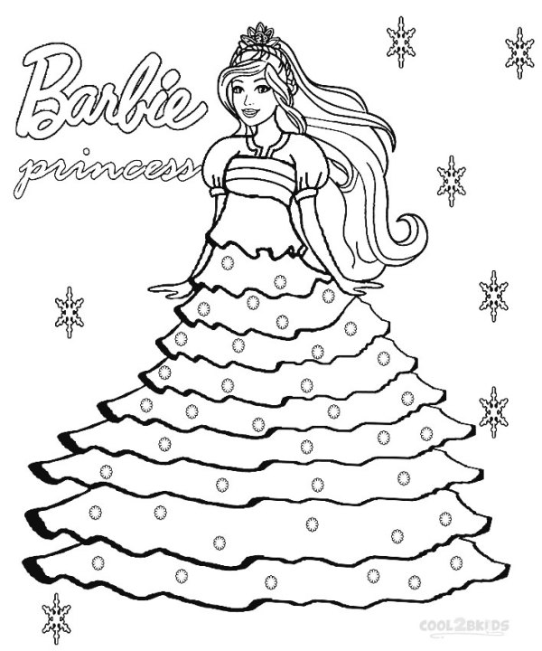 princess color page # 15