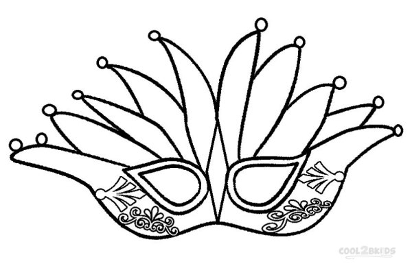 mardi gras coloring pages free printable # 4