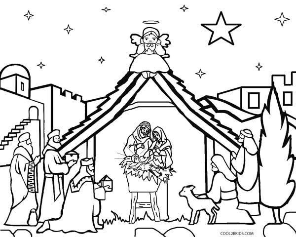 printable nativity scene pages for kids cool2bkids