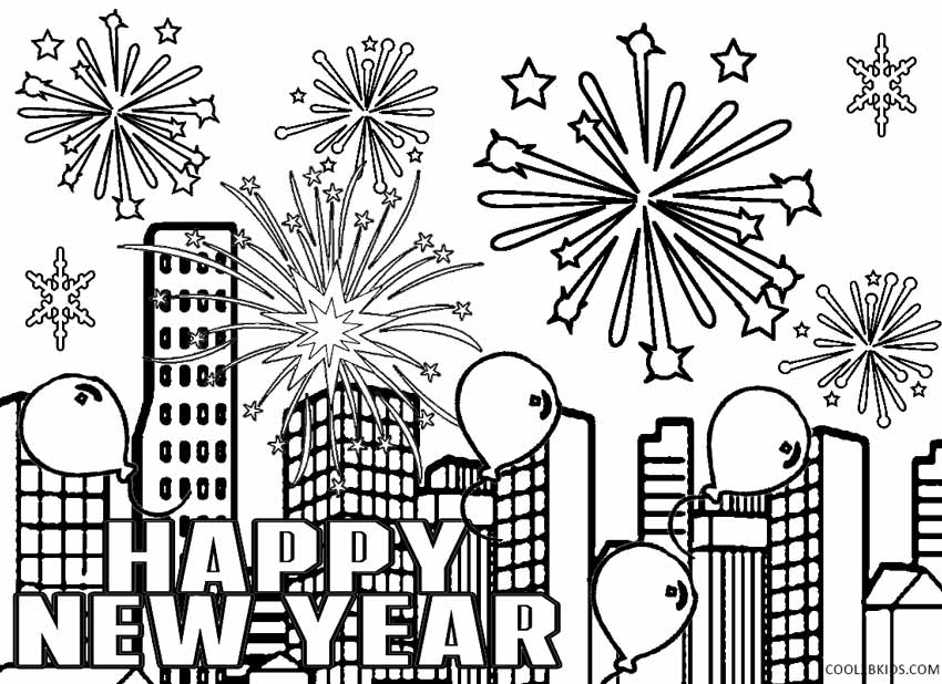pics photos new years eve and fireworks coloring pages