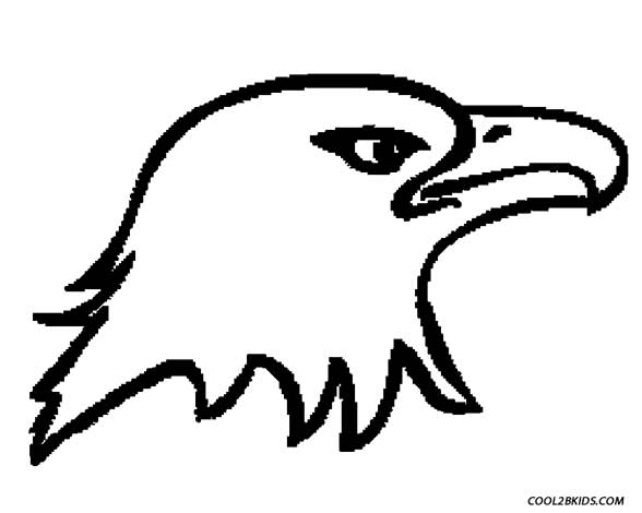 eagle head colouring pages page 2