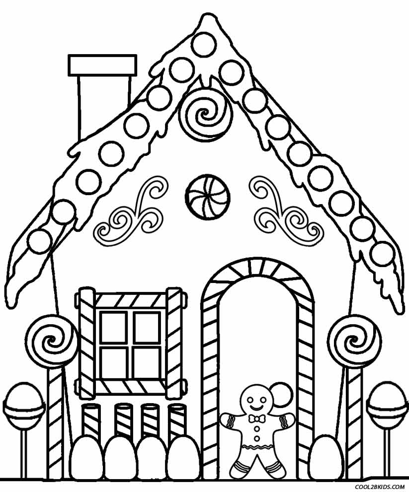 gingerbread house coloring page druntk