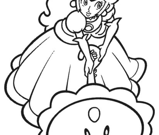 Printable Princess Peach Coloring Pages For Kids Coolbkids