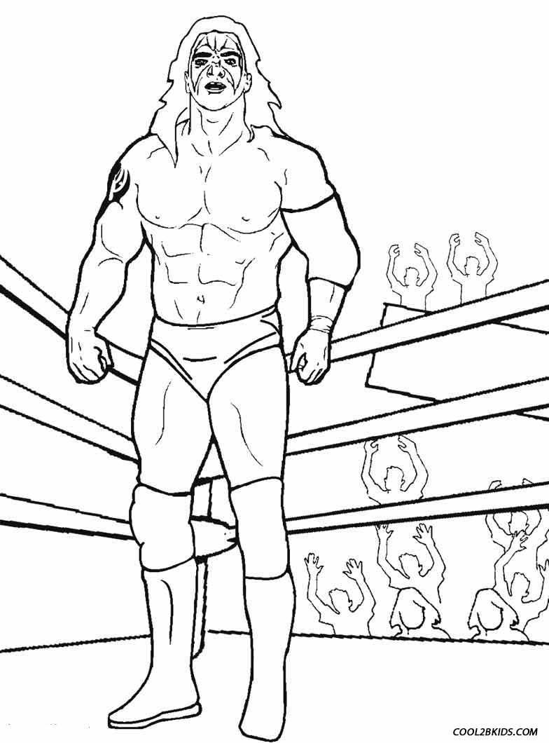 Wwe Wrestling Ring Coloring Pages Coloring Page